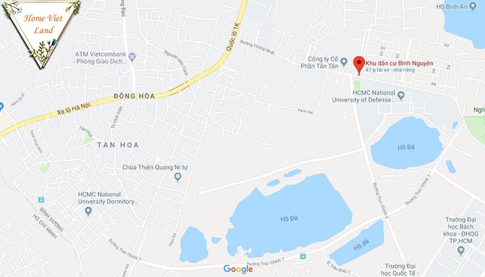 Chung cư làng đại học bình dương - vị trí