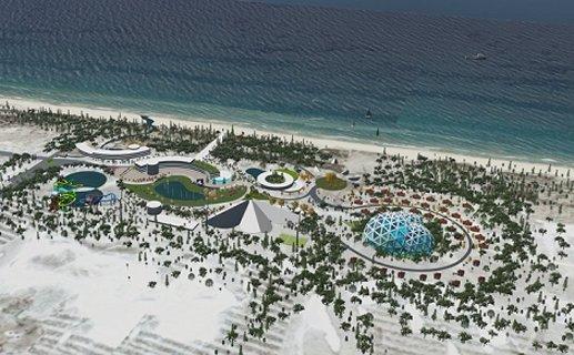 Phối cảnh dự án Hue Amusement and Beach Park