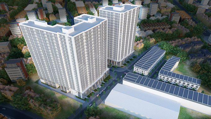 Alva Plaza Phối cảnh nhà phố và căn hộ chung cư1