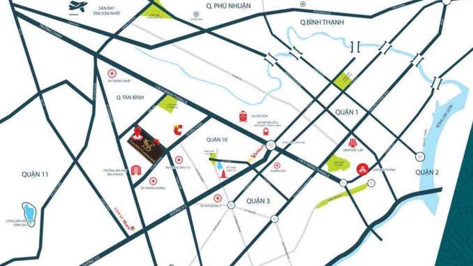 Tiện ích Sunshine Continental Quận 10 đắc địa tại giao lộ hay trục đường chính là Thành Thái và Tô Hiến Thành - Vị trí