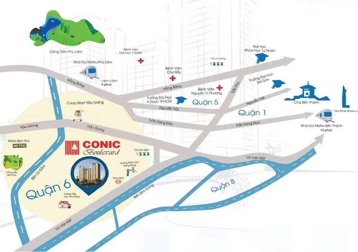 Conic Boulevard Bình Chánh - Vị trí-compressed