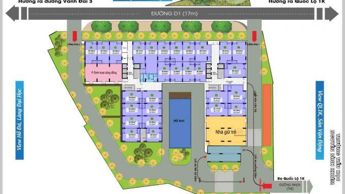 Bcons Green View Làng Đại Học Bình Dương - MB tầng 1