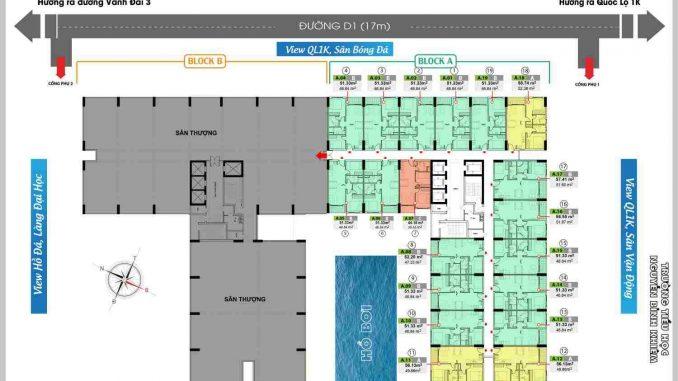 Bcons Green View Làng Đại Học Bình Dương - MB tầng 25
