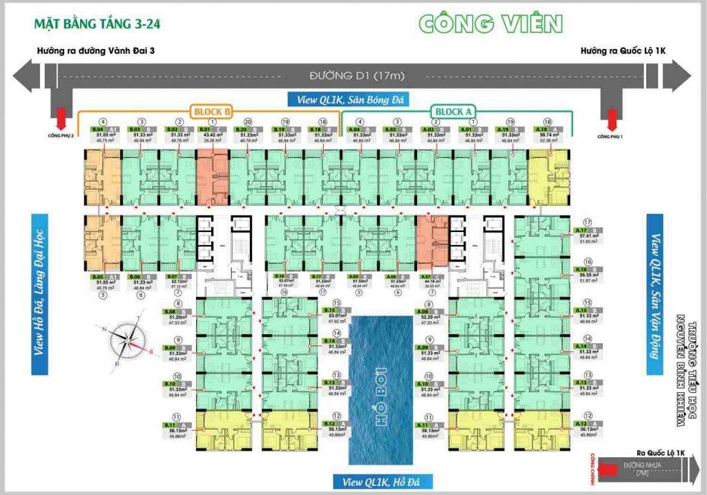 Bcons Green View Làng Đại Học Bình Dương - MB tầng 3-24