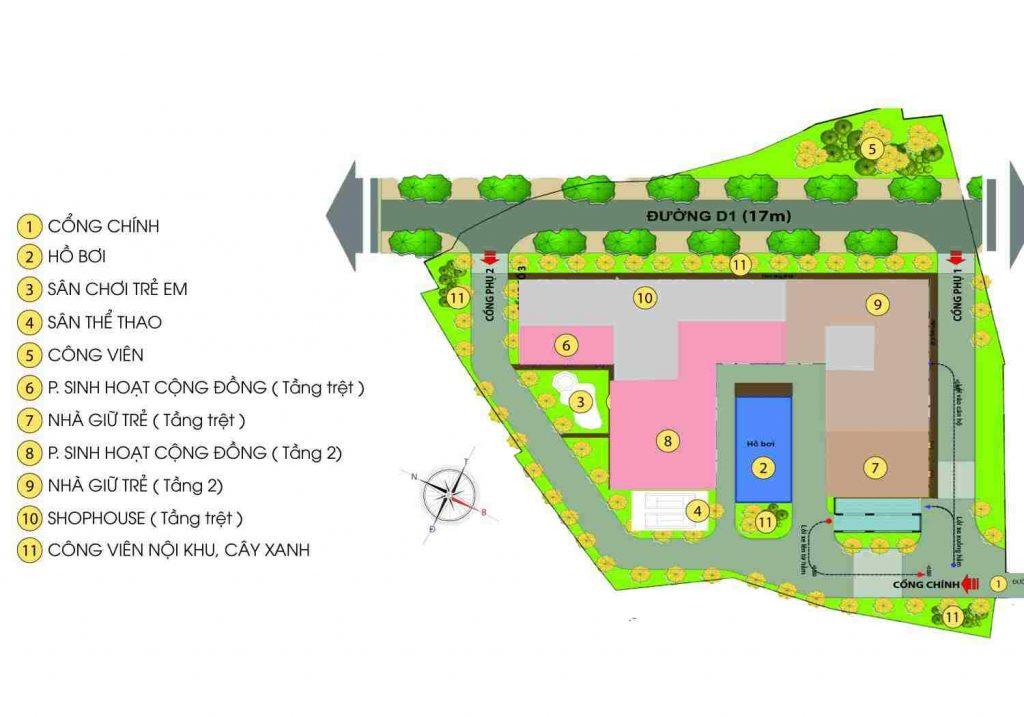 Bcons Green View Làng Đại Học Bình Dương - MB tổng thể
