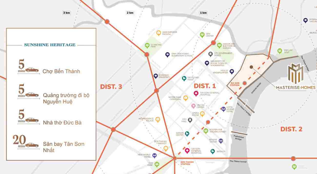 Masterise Homes Ba Son Quận 1 - Phối cảnh dự án từ Masterise Group - Vị trí