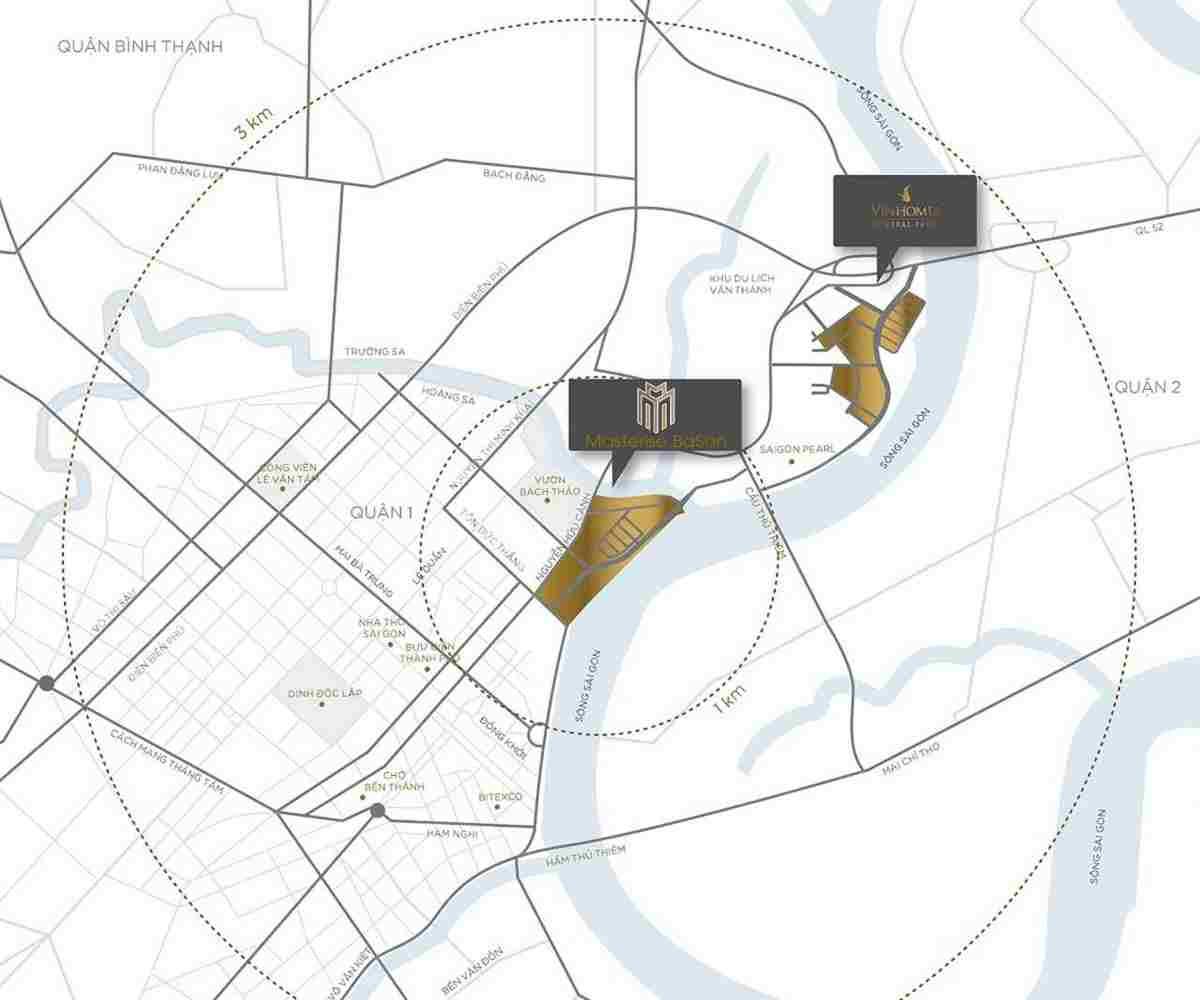 Masterise Homes Ba Son Quận 1 - Phối cảnh dự án từ Masterise Group - Vị trí dự án