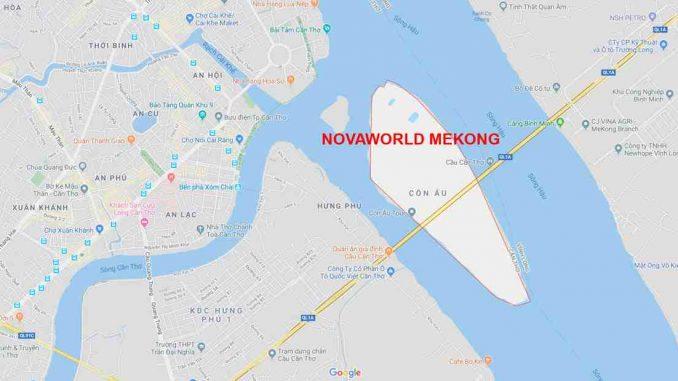 NovaWorld Mekong Cần Thơ - Phối cảnh dự án Khu Đô Thị - Vị trí