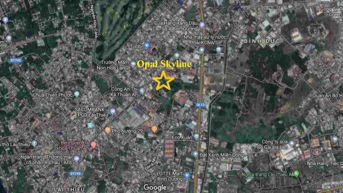 Opal Skyline Thuận An Bình Dương - Đất Xanh Group - Vị trí
