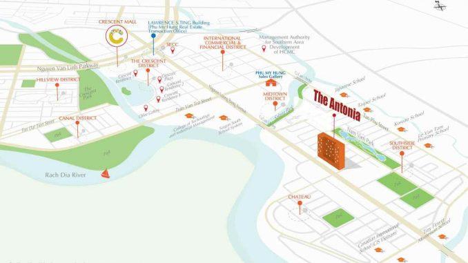 The Antonia Quận 7 - Phú Mỹ Hưng - Dự án Căn hộ Cao cấp - Vị trí