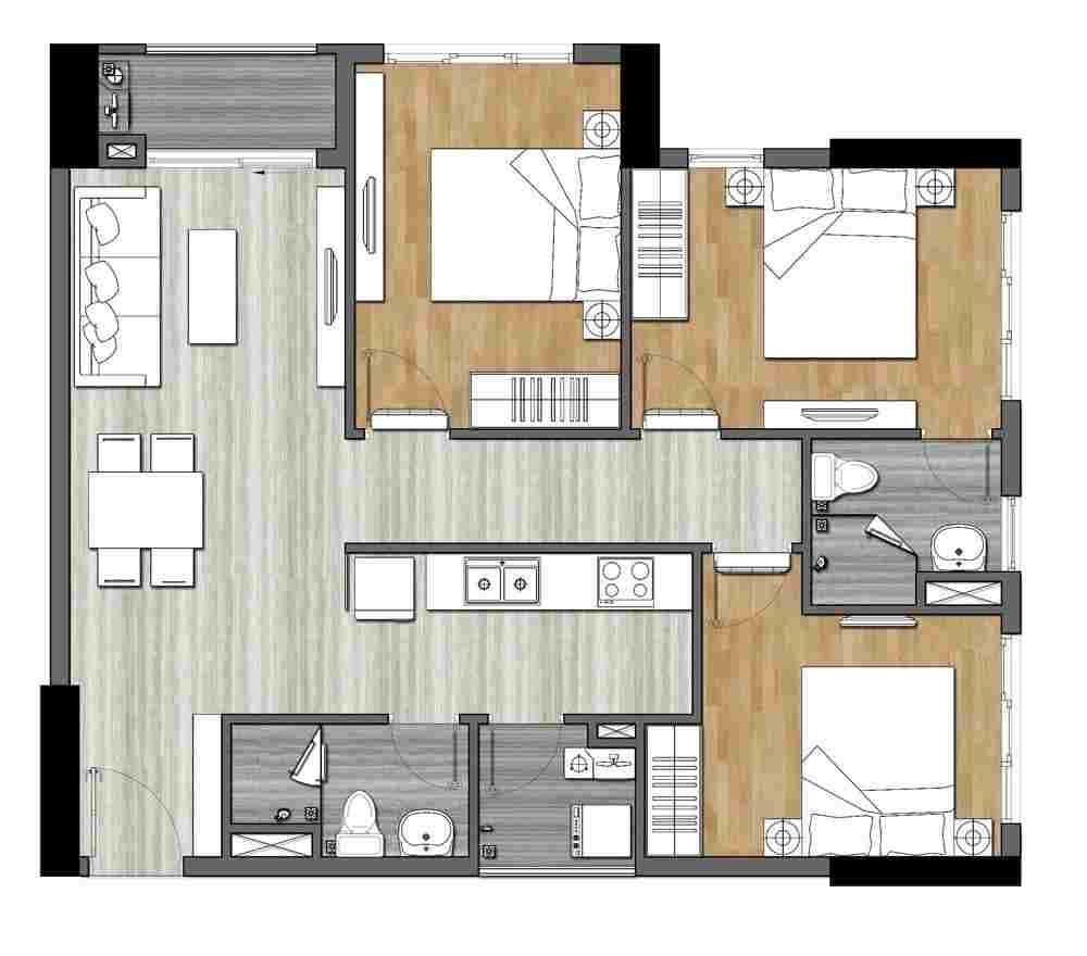 9x Next Gen Hưng Thịnh Làng Đại Học - Dự án căn hộ Bình Dương - Thiết kế 3D