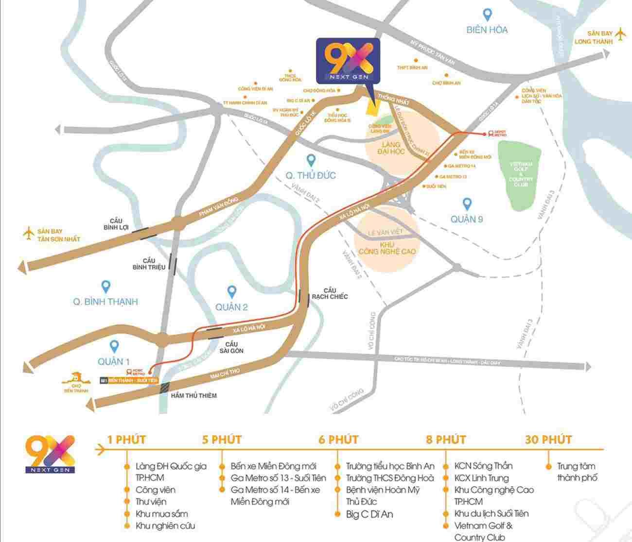 9x Next Gen Hưng Thịnh Làng Đại Học - Dự án căn hộ Bình Dương - Vị trí