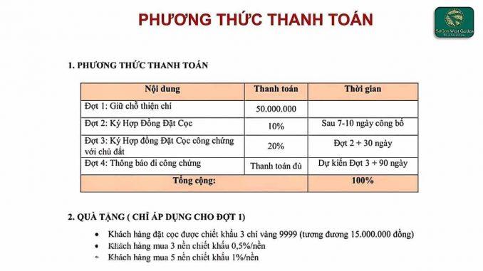 Sài Gòn West Garden - PTTT