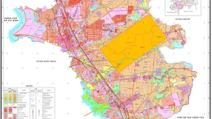 Bản đồ quy hoạch huyện Long Thành, Tỉnh Đồng Nai