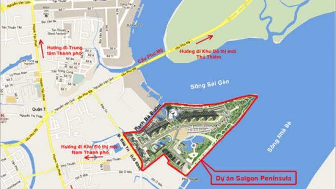 Saigon Peninsula Đào Trí Phú Thuận Quận 7 - Vị trí