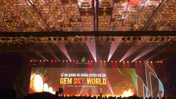 2000 sales ra quân tham dự lễ công bố dự án Gem Sky World Long Thành của Đất Xanh