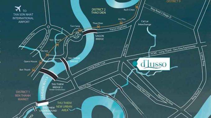 Precia ( D'lusso ) Quận 2 - Vị trí
