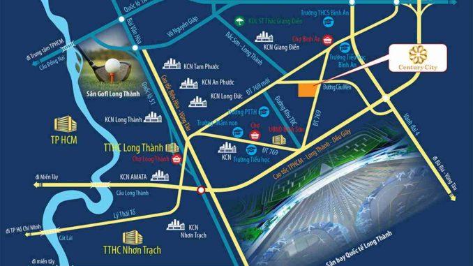 Century City Long Thành, Đồng Nai của Kim Oanh - Vị trí