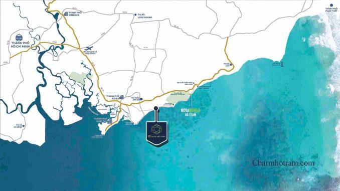 Charm Hồ Tràm Resort - Xuyên Mộc Bà Rịa Vũng Tàu - Vị trí