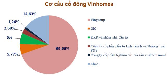 Cơ cấu cổ đông Vinhomes sau giao dịch của KKR và nhóm nhà đầu tư