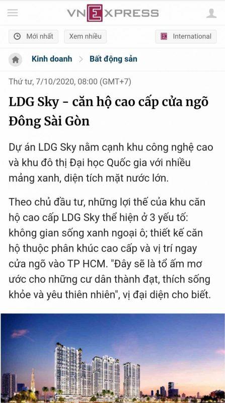 LDG SKY - Báo