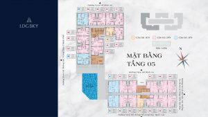 LDG SKY - Block C - Mặt bằng Tầng 5