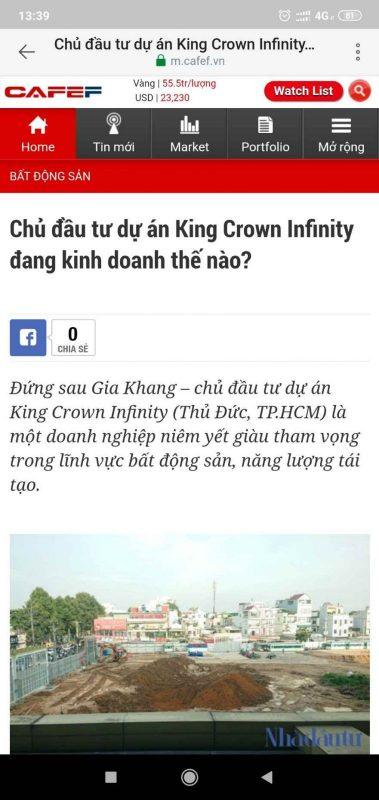 King Crown Infinity - các bài báo lớn