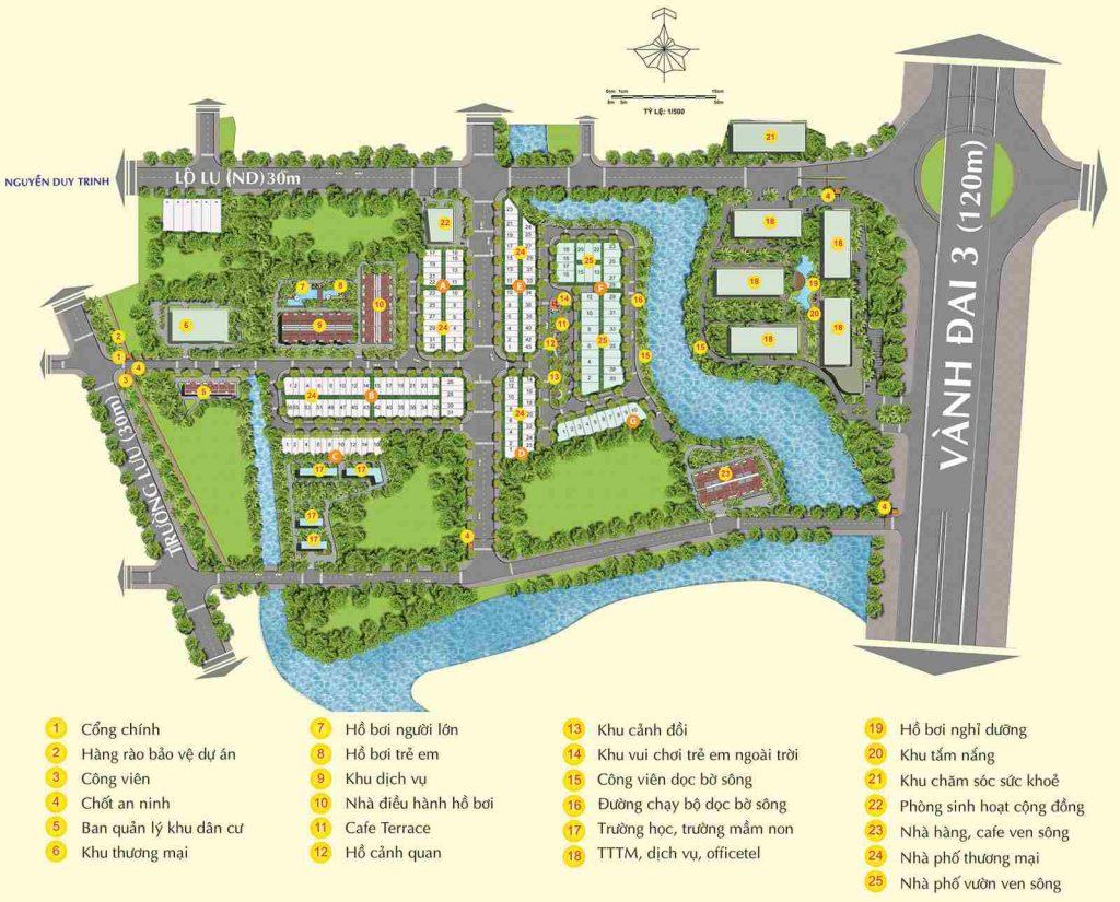 Centana City Quận 9 - Mặt bằng căn hộ mặt tiền Vành Đai 3