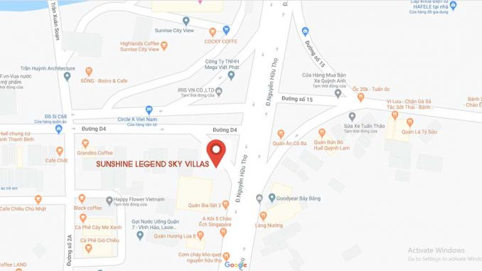 Sunshine Legend Sky Villas Quận 7 - Vị trí