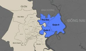 Thành phố Thủ Đức được hợp nhất bởi 3 quận (Quận Thủ Đức, Quận 9, Quận 2)