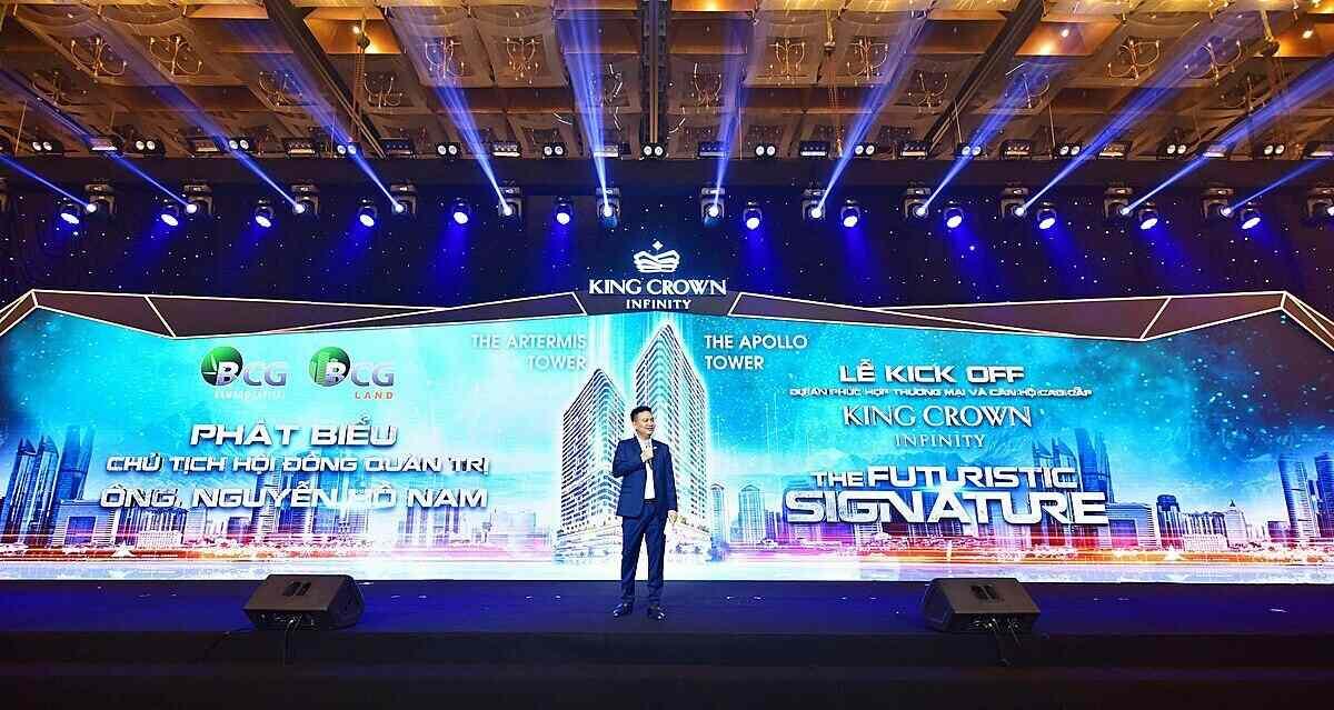 King Crown Infinity - Ông Nguyễn Hồ Nam - Chủ tịch HĐQT Tập đoàn Bamboo Capital chia sẻ những thông tin giá trị về dự án tại sự kiện