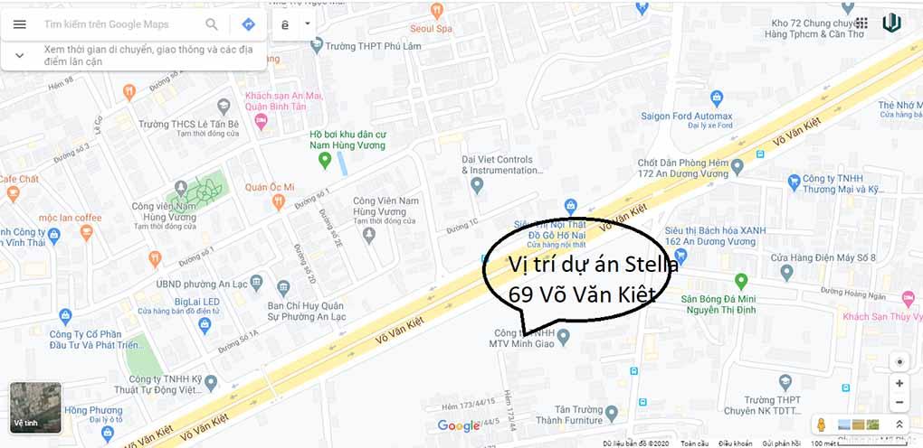 Stella En Tropic Võ Văn Kiệt - Vị trí