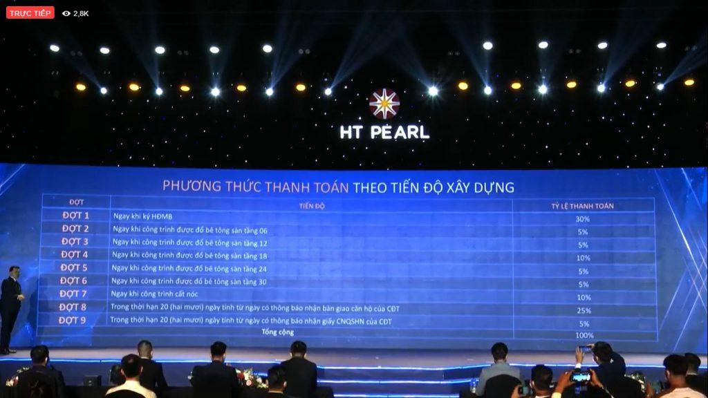 HT Pearl - PTTT theo tiến độ
