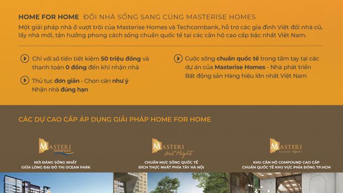 Home for Home - Chiến lược của Masterise Homes là gì khi công bố giải pháp 'nhà đổi nhà'?