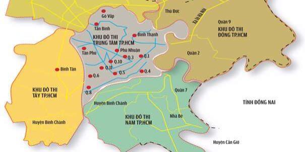 Bản đồ vệ tinh các khu vực trong thành phố