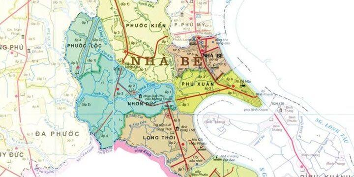 Bản đồ quy hoạch huyện Nhà Bè tphcm