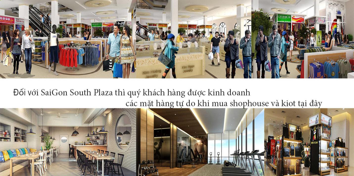 Các mặt hàng được kinh doanh tự do tại Shop Saigon South Plaza và kiot Saigon South Plaza