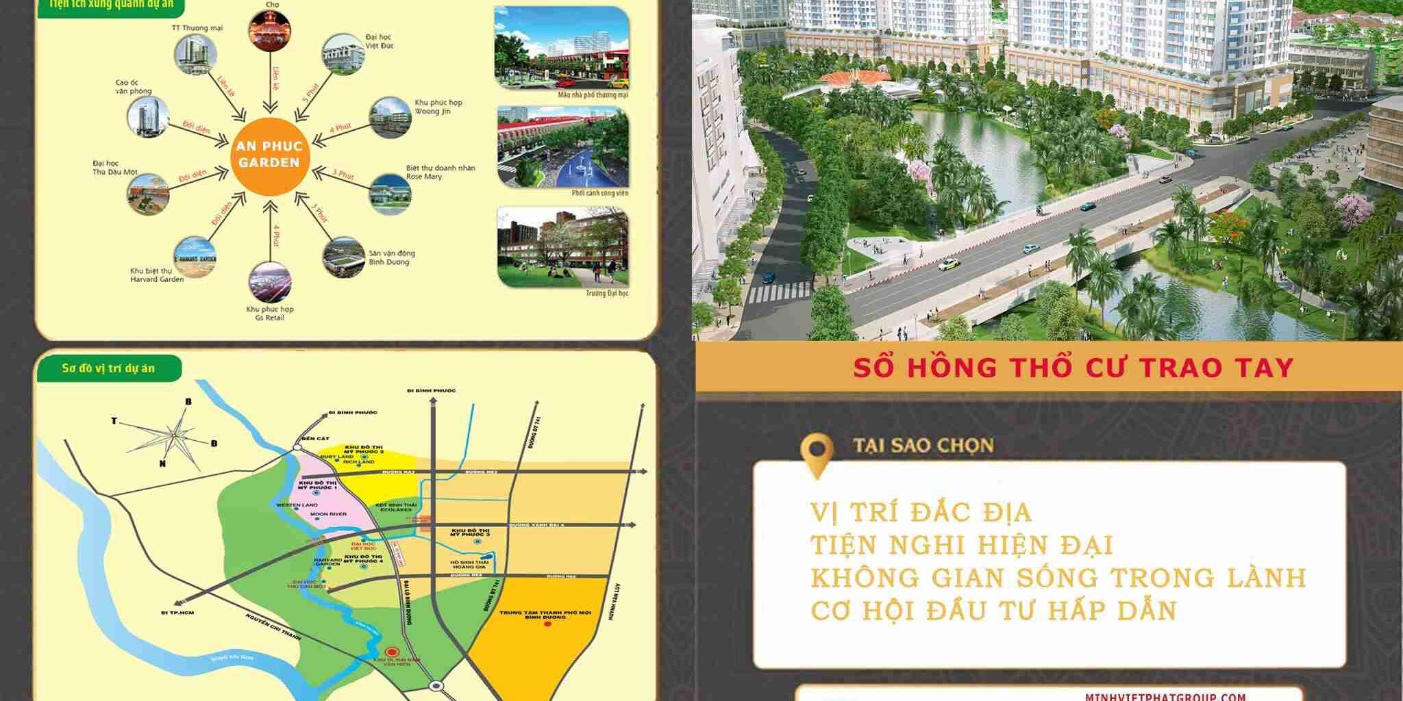 Dự án đất nền nhà phố khu dân cư An Phú Garden Bến Cát Bình Dương