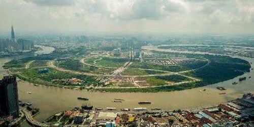 Khu đô thị mới Thủ Thiêm, quận 2, TP HCM thu hút nhà đầu tư châu Á trong vài năm qua