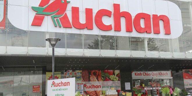 Một siêu thị Auchan trên đường Phạm Văn Đồng, quận Gò Vấp, TP
