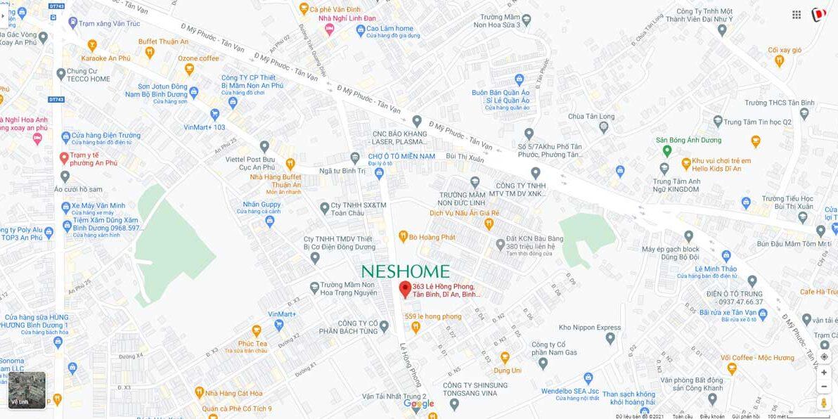 Neshome - vị trí
