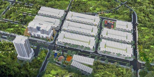 Phối cảnh tổng thể dự án Khu nhà ở Ecotown Phú Mỹ có diện tích lên tới 6,3ha