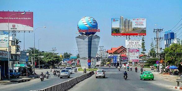 Quốc lộ 13 đoạn từ trung tâm Lái Thiêu tới đường Nguyễn Văn Tiết, thành phố Thuận An sẽ được quy hoạch thành đại lộ kinh tế, tài chính, dịch vụ của Bình Dương