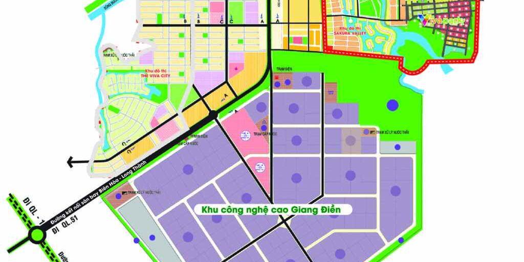 Quy hoạch Vị trí dự án khu đô thị Viva Park Đồng Nai