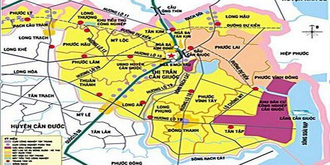 Quy hoạch huyện Cần Giuoc Long An năm 2019