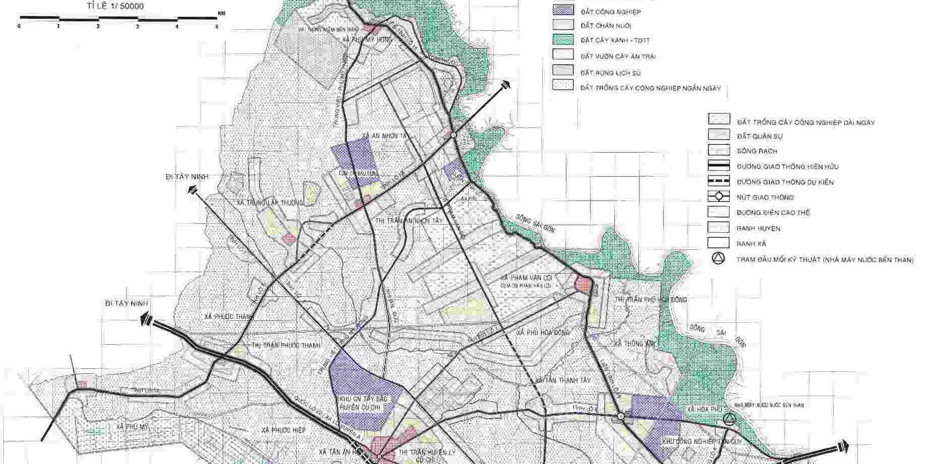 Quy hoạch huyện Củ Chi Tp - Bản đồ quy hoạch tổng thể