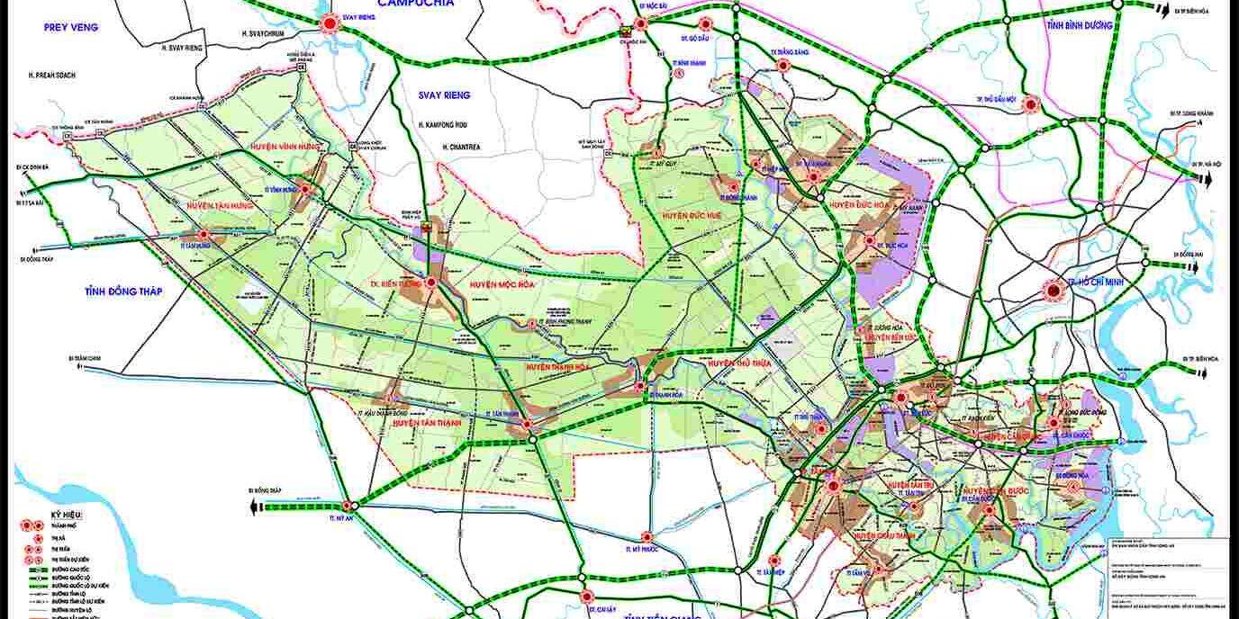 Quy hoạch xây dựng vùng tỉnh Long An năm 2019 - 2025