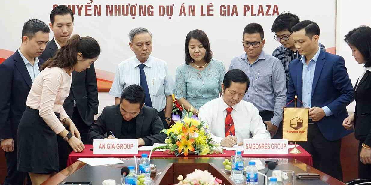 Saigonres đã kí hợp đồng chuyển nhượng toàn bộ 70% vốn tại Lê Gia cho Bất động sản An Gia-compressed