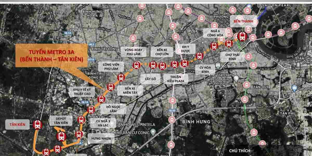 Sơ đồ tuyến Metro 3A (Bến Thành – Tân Kiên)-compressed