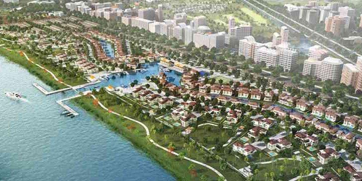 Tổng thể dự án Waterpoint Southgate Residence Nam Long Bến Lức Long An